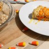 Candy Corn Rice Krispies Treats {vegan}