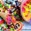 Skittles Rainbow Ice Cream {Dairy-Free & Gluten-Free}