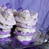 Ombre Meringue Ice Cream Cookie Towers {eggless and vegan}