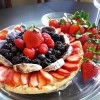 Dessert Gluten-Free & Vegan Fruit Pizza and Prosecco