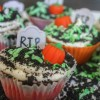 Graveyard Cupcakes {Bubble Gum Cupcakes for Zombies