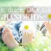 Duck, duck, GOOSE! Three Grandkids!
