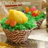 Ducky Tail Cupcakes