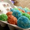 Egg Free Rice Krispie Treat Egg Coloring