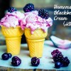 Homemade Blackberry Ice Cream {Dairy Free}