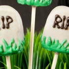 Vegan Tombstone Cake Pops