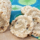 Rice Krispie Cookie Dough Pinwheel Treats {Vegan}