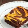 Vegan Chocolate Pumpkin Spice Marble Cake