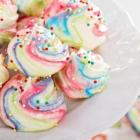 Egg-free Rainbow Meringue Cookies {vegan}