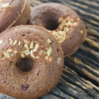 Vegan Chocolate Toffee Donuts