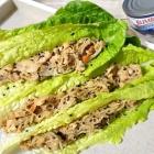 Quick Teriyaki Tuna & Noodle Stir-Fry Lettuce Wraps {Gluten-Free}