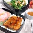 Pan-Fried Teriyaki Salmon Bento Box for Mom