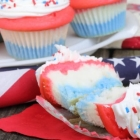Gluten-Free and Vegan Red-White-and-Blue Cupcakes
