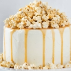 Vegan Caramel Corn Chocolate Cake