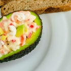 Egg-Free Crab Salad Stuffed Avocados