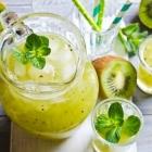 Mint Kiwi-Ade (AKA Mint Kiwi Lemonade for the Uninitiated)