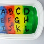 Alphabet Rainbow Gel Painting Tray