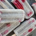 White Chocolate Raspberry Chia Seed Pudding Popsicles