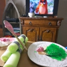 DIY Wooden Spoon Catapult for Edible Angry Birds Game