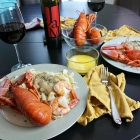 At-Home Date Night and Fresh Lobster with Vegan Mushroom Garlic Alfredo Sauce