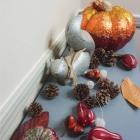DIY Fall Entryway Cranberry Centerpiece