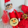 Elf on the Shelf Makes a Snowman Moon Pie