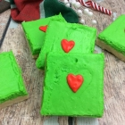 Grinch Sugar Cookie Bars