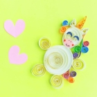 Paper Quilled Unicorn Craft