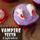VAMPIRE TEETH CUPCAKES
