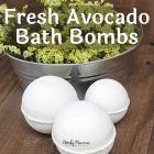 Fresh Avocado Bath Bombs - Easy DIY with Real Avocado