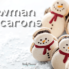 Snowman Macarons Recipe - Delicious Frosties