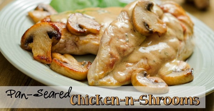 3 ingredient Chicken and Mushrooms