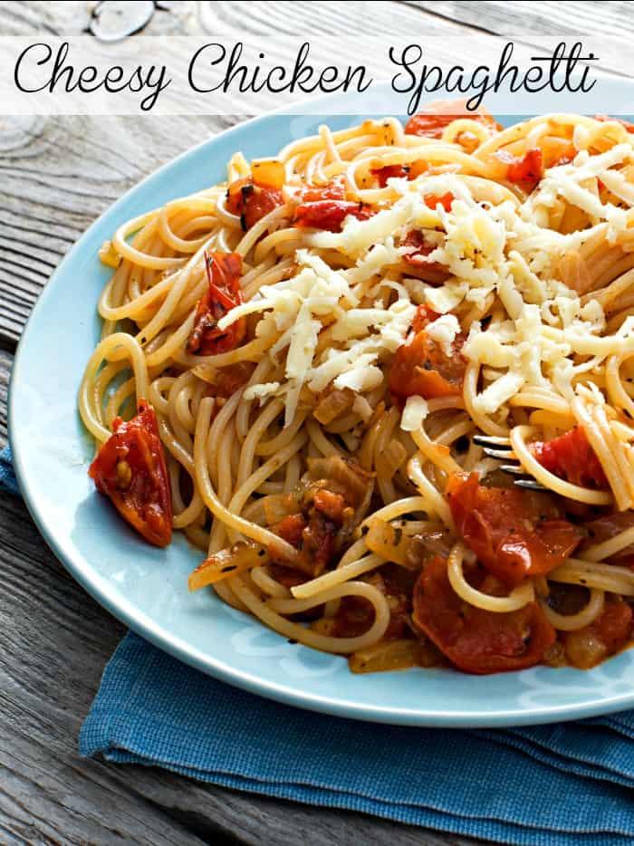 Cheesy Chicken Spaghetti Pin