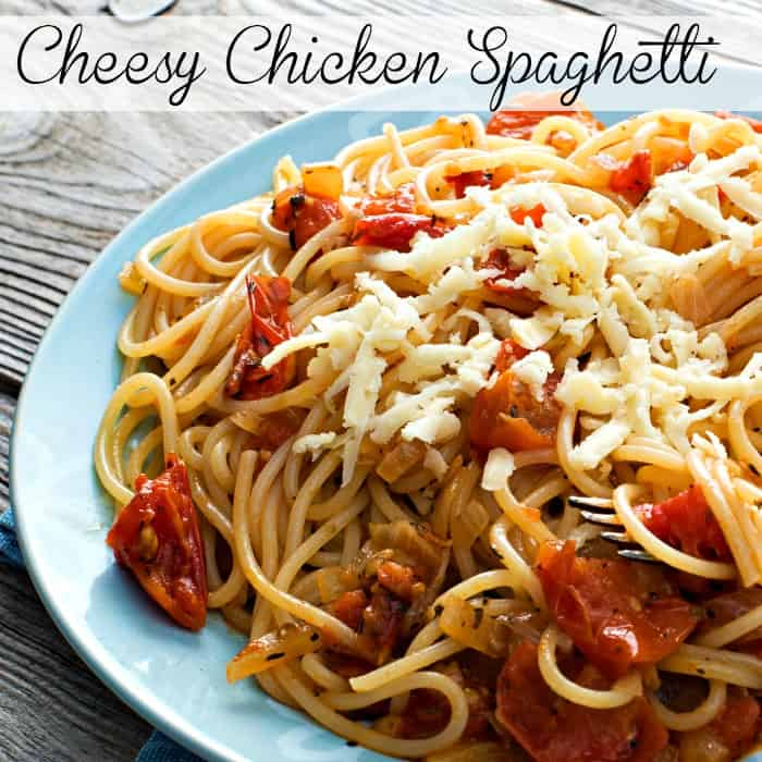 Cheesy Chicken Spaghetti Sq