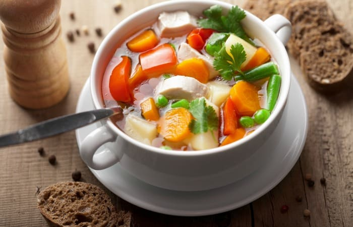 chicken vegetable soup feature