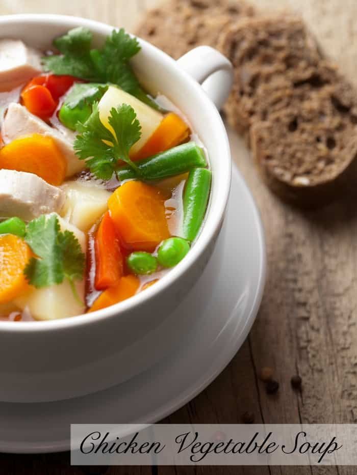 chicken vegetable soup pin