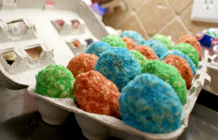 Egg Free Rice Krispie Treat Egg Coloring