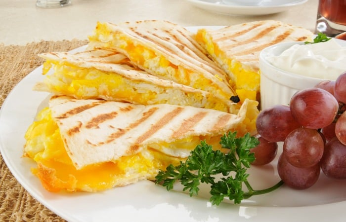 sandwich with eggs crispy pork and beans quesadilla quesadilla pie ...