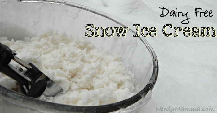 Dairy Free Snow Ice Cream FB