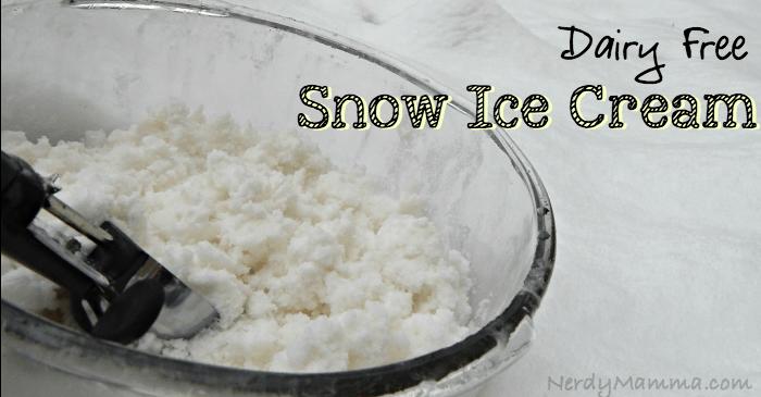 Dairy Free Snow Ice Cream FB