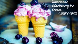 blackberry ice cream homemade feature
