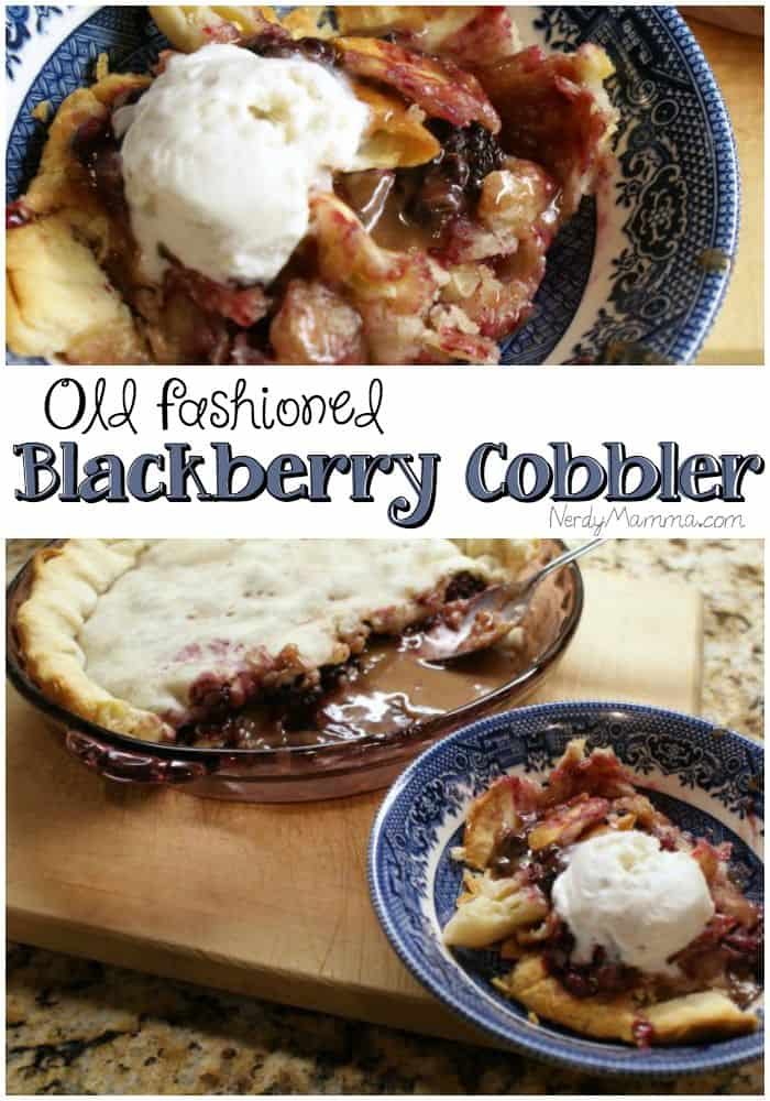 I love how easy this blackberry cobbler is to make!