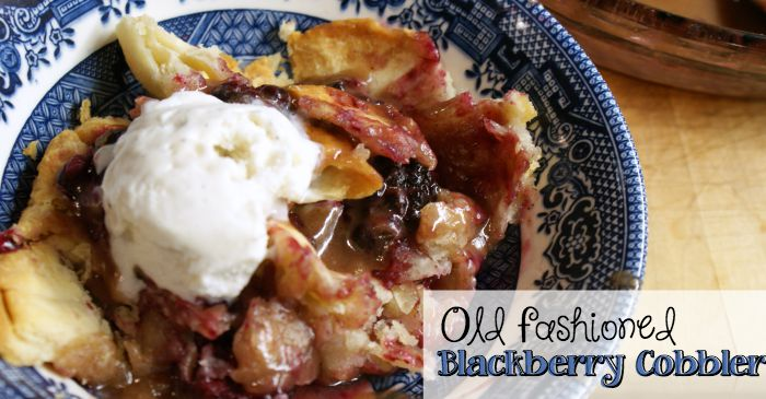 old fashioned blackberry cobbler fb