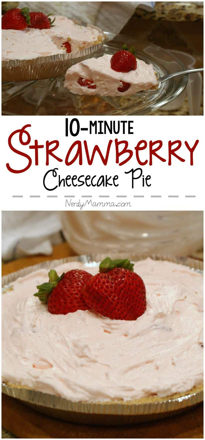 This recipe for Strawberry Cheesecake is so fast. I can't wait to try it!