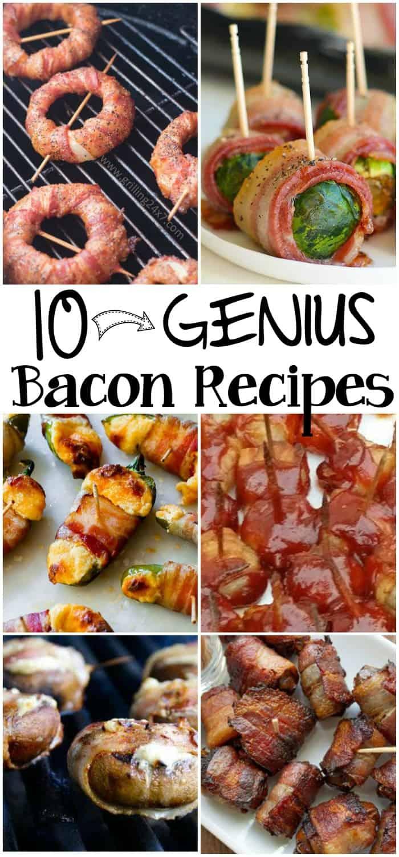 genius bacon recipes pin