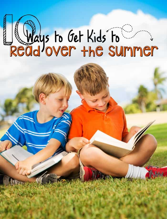 ways to get kids to read over the summer pin