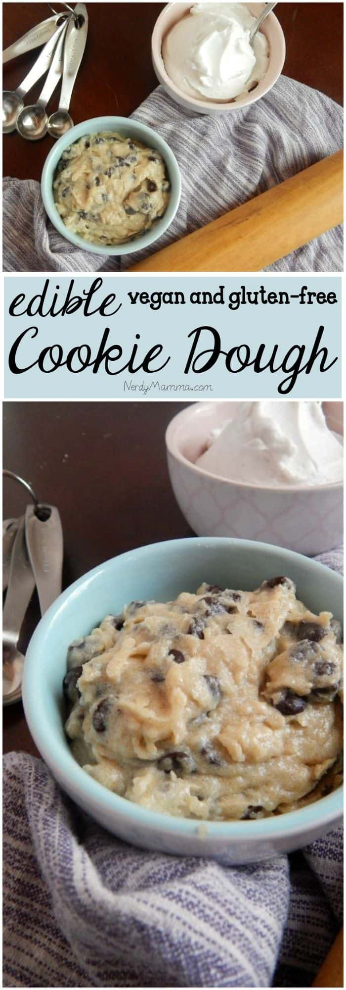 I love this recipe for edible GLUTEN-FREE cookie dough!