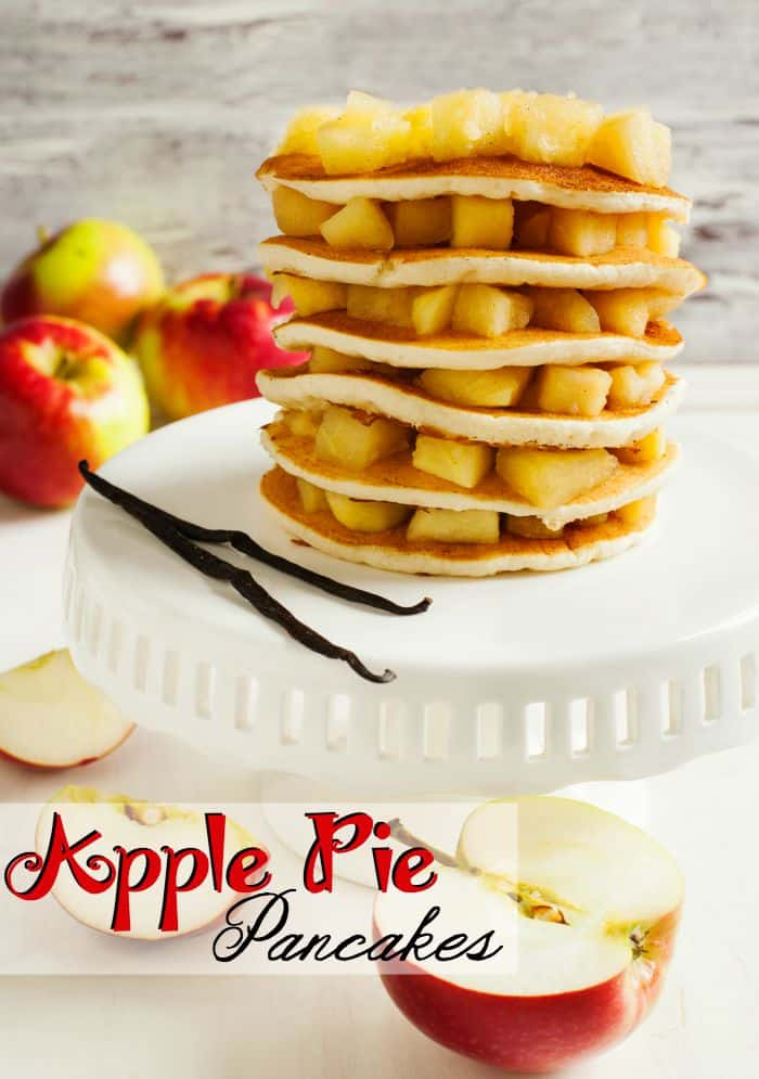 I made these Apple Pie Pancakes for my kids and OMG they are in love
