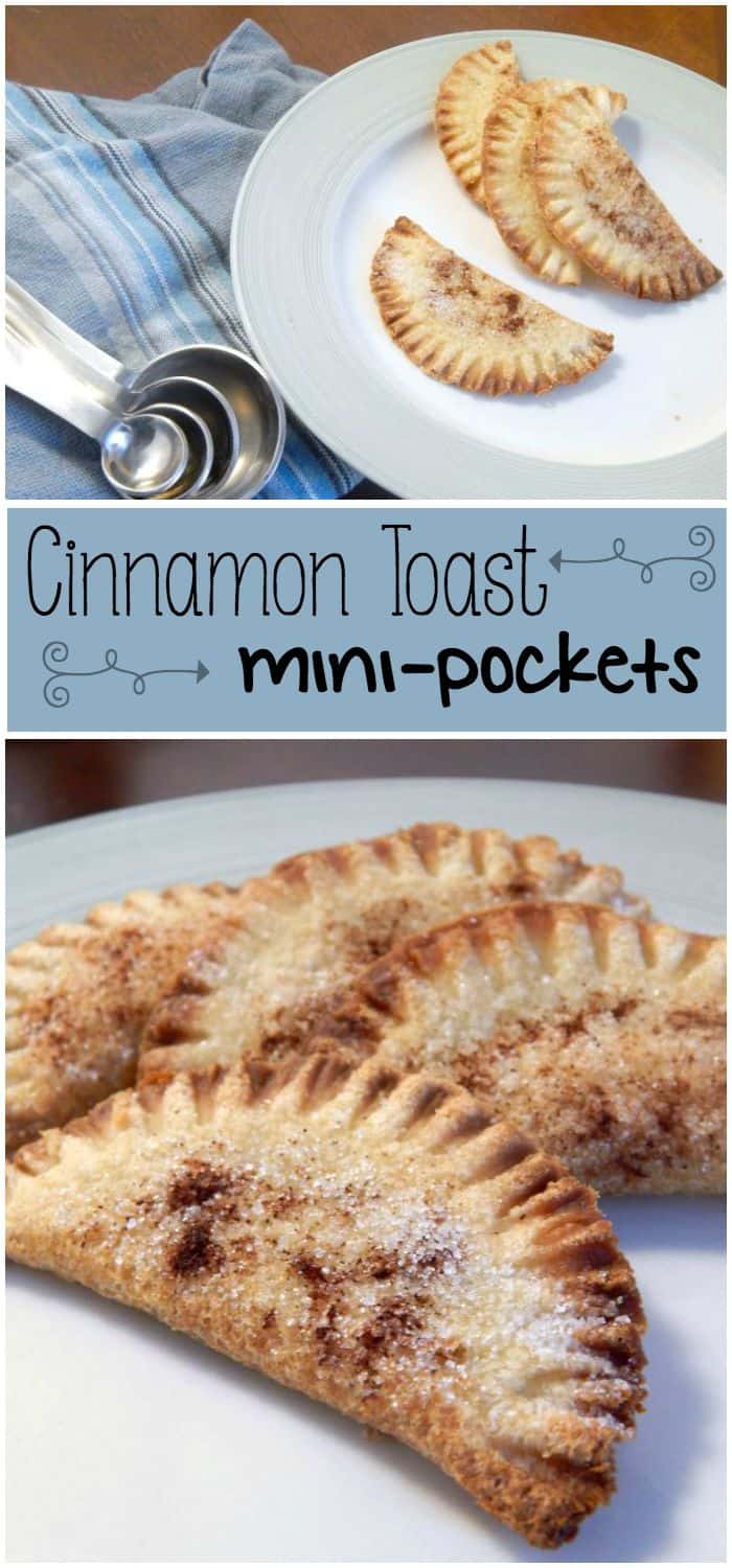 My kids love these cinnamon toast mini-pockets in their lunches and they're so easy to make
