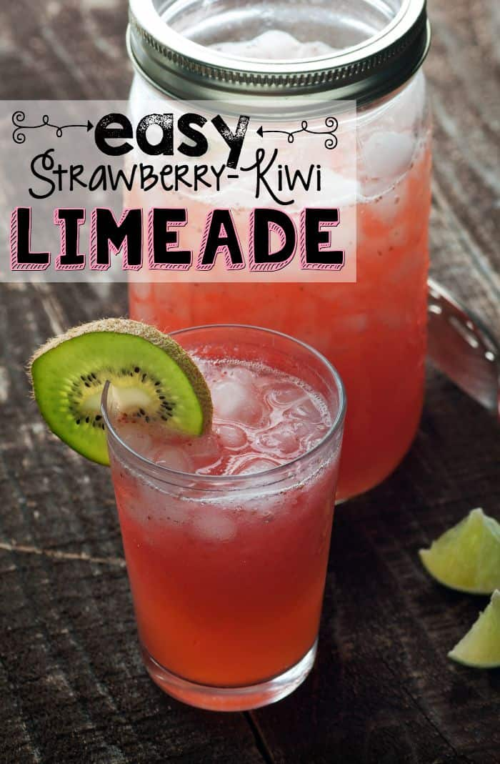 This easy strawberry kiwi limeade is so good my kids can't get enough